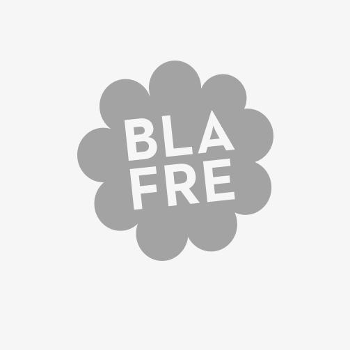 Matboks i plast, treroms, Blomst, (Hvit /marineblå)